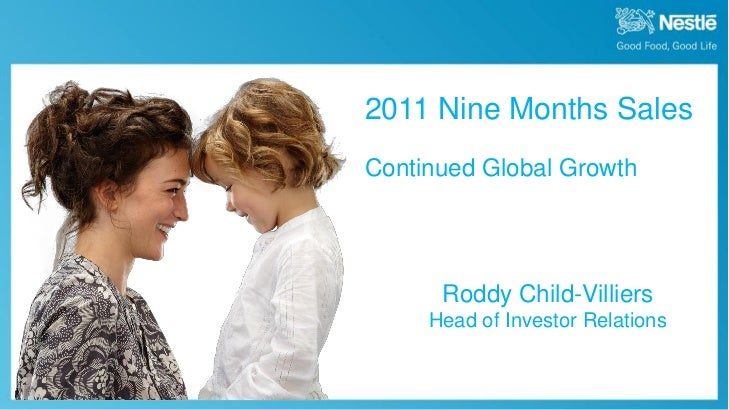 2011 Nine Months Sales                                             Continued Global Growth                                ...