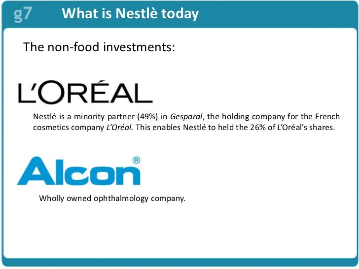 nestle alcon case Nestlé sa  the company sold off some of its health and beauty interests,  retaining alcon and the minority holding in l'oreal— it still hoped to gain full  control.