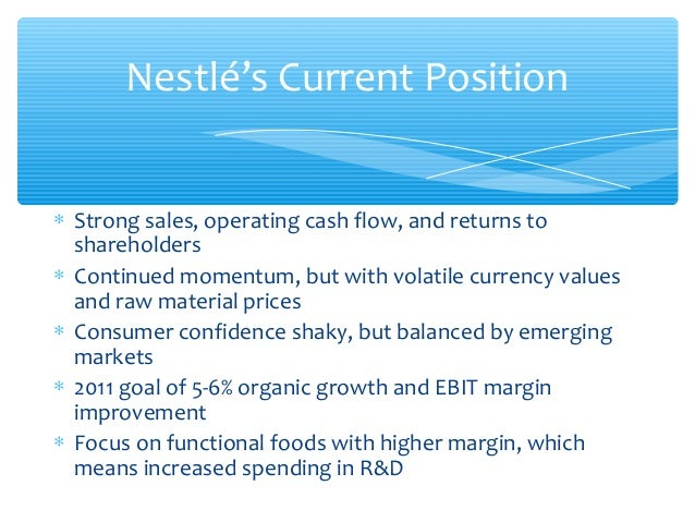 the nestl case Therefore, the tax authorities have been entitled to reassess nestlé up to the  value of the activity transferred, retaining a profit margin of 05%,.
