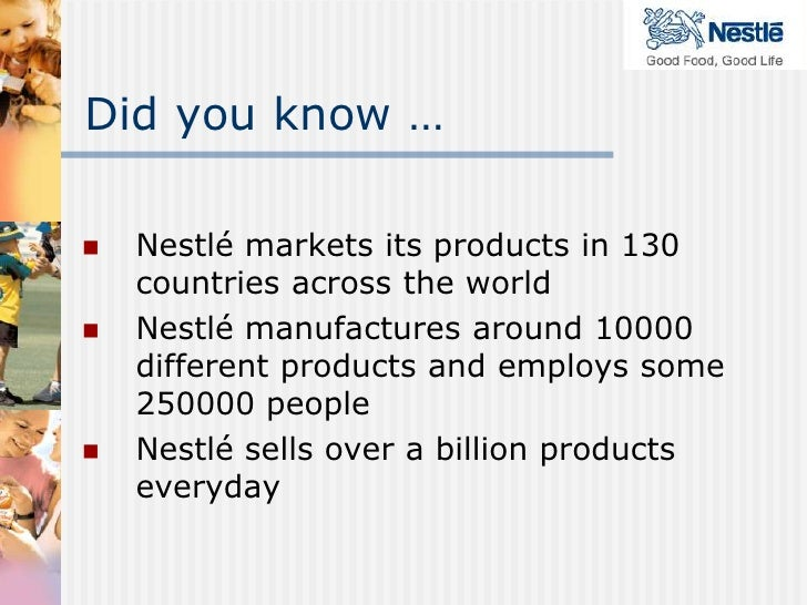 nestle was founded in 1866 management essay Nestle analysis essay sample the whole doc is available  switzerland in terms of revenue, nestle is the largest food company in the world nestle was founded in 1905 by the merger of.