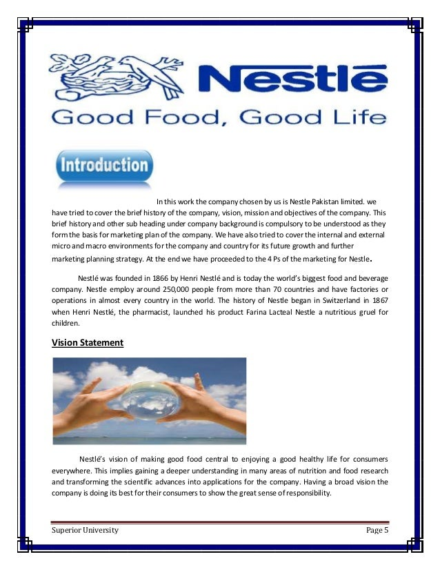 introduction to mnc and the company nestle marketing essay As the world's leading nutrition, health and wellness company, we have a unique opportunity to help address the food and water crises in particular the.