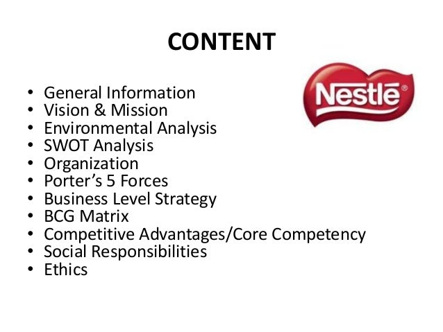 What Is Nestle's Vision And Mission Statement?