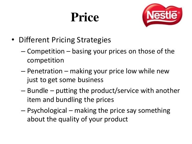 marketing mix plan for kit kat Page 5: the marketing mix product strategy nestle 4 image 5 no matter how  effective the promotion and packaging, a firm will find it very difficult to market a.