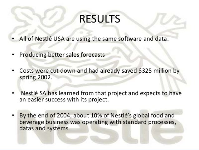 nestle process costing Small business accountants can use one of four distinct inventory costing methods to account for the cost of goods sold different inventory costing methods are best.