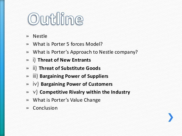 nestle porter value chain Value chain and competitive advantage of nestle company profile the nestlé corporate business principles are at the basis of our company's culture, developed over.