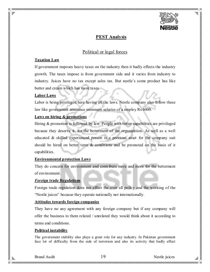 nestle ghana steeple analysis Swot and pestel analysis of nestle print reference this  disclaimer: this work has been submitted by a student this is not an example of the work written by our professional academic writers you can view samples of our professional work here.