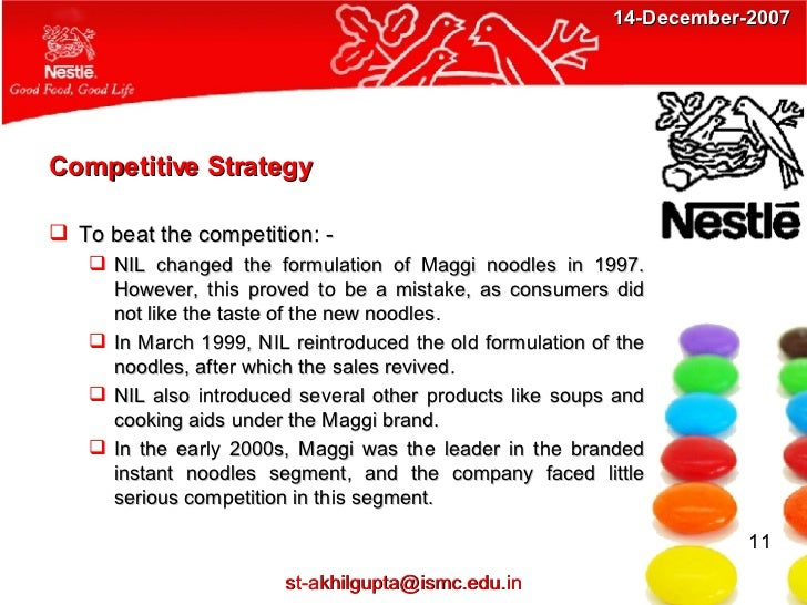 Competitive analysis of nestle international