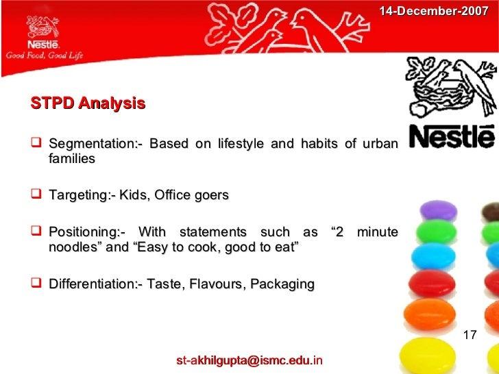 Stpd analysis of maggi