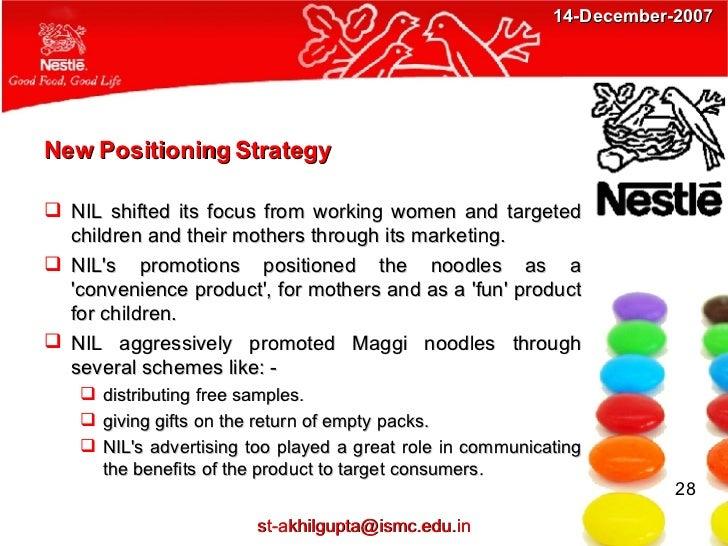 stp strategy of maggi noodles Maggi stppdf project report of maggi (1) marketing strategy of maggi : a case study competitors of maggi maggi noodles maggi noodles 1  the firm found that the children were the biggest consumers of maggi noodles quickly a strategy was developed to capture the kids segment with various tools of sales promotion like pencils, fun books.