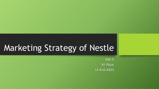 Nestle's Infant Formula: A Challenge in Marketing Strategy