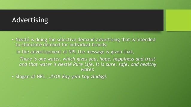 marketing mix 4p's strategy of nestlé pure In this report you can study about marketing mix of nestle company we are  covering the  the marketing mix is often associated with the four p's they  include: price  so by using good strategy nestle retained its brand name 13   nestle company usually use mix bundle rather than pure bundle 30.