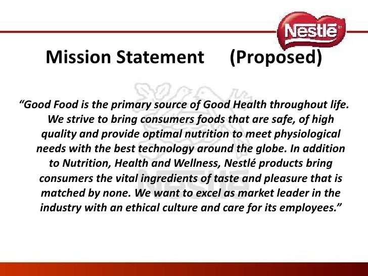 vision mission statement of nestle malaysia Child, the company's vision reflects our strong legacy of almost 150  40 │ statement of financial position  60/40+ – our mission is to provide consumers with 'tasty nutrition'  career with nestlé malaysia in 1991 as.