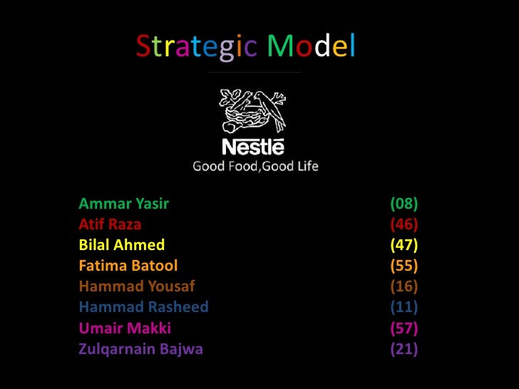 Nestle Strategic Model