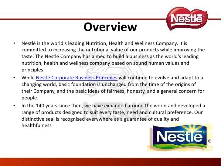 Strategic overview of nestle