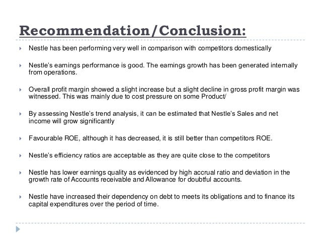 nestle s financial analysis Connecting decision makers to a dynamic network of information, people and ideas, bloomberg quickly and accurately delivers business and financial information, news and insight around the world.
