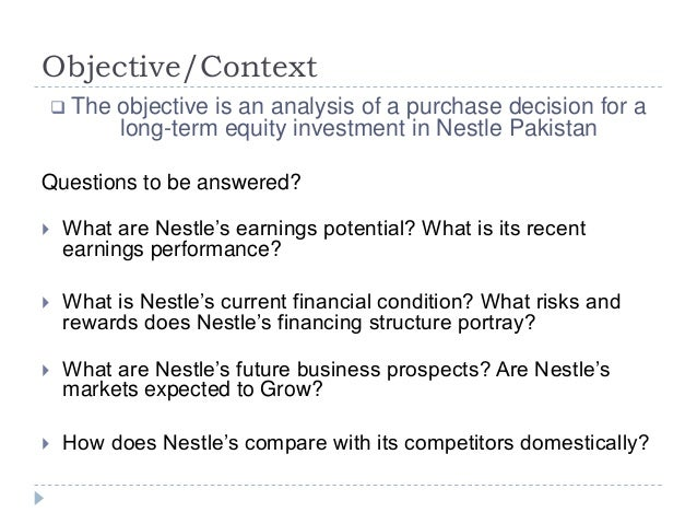 Financial analysis of nestle india and