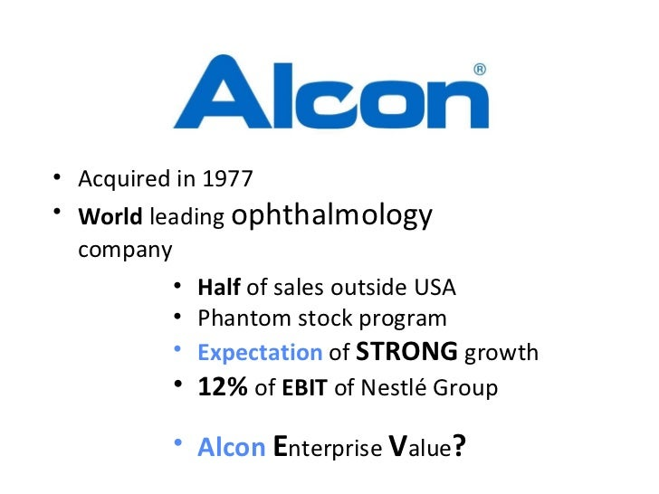nestle alcon The offer has been criticized because novartis isn't offering as much to minority shareholders of alcon vs what it is willing to pay nestle.