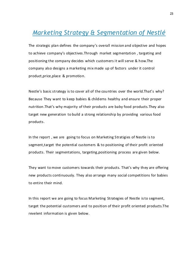 nestle strategic plan We will write a custom essay sample on nestle strategic management specifically for you for only $1638 $139/page.