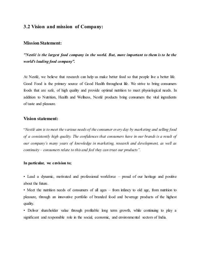 Desk Research On Nestle India Company