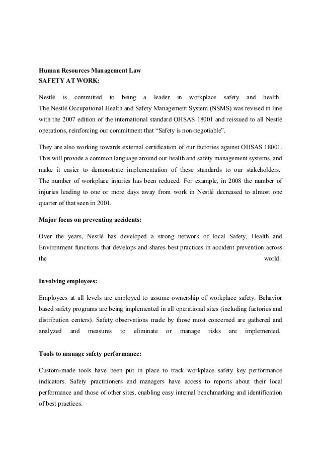 literature review of nestle company