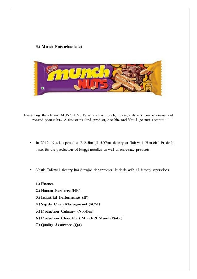 NESTLE India, Tahliwal Plant's Industrial Performance Department, Pro…