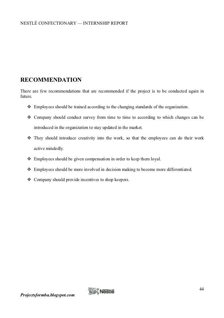 letter of recommendation examples nestle internship report 23030 | nestle internship report 44 728
