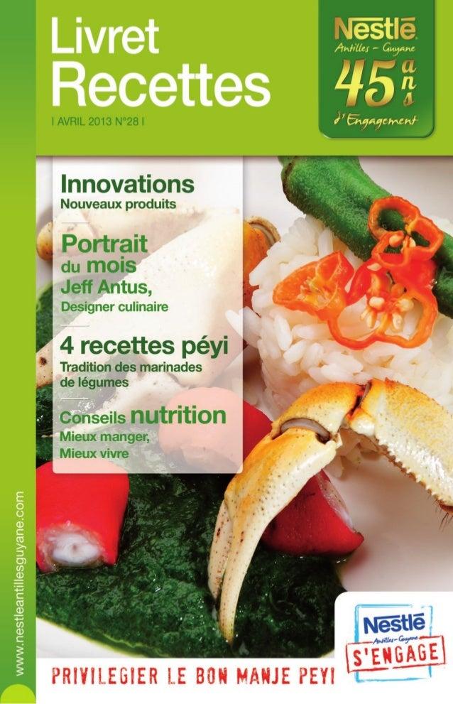 Nestle Livret Recettes N28 Avril 2013