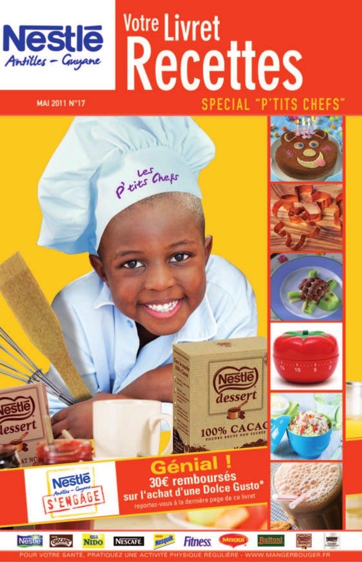 Nestle livret recettes 17 special ptits chefs