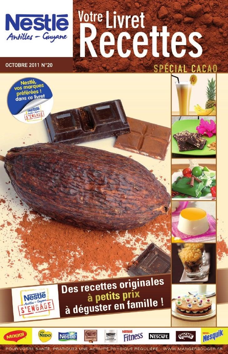 Nestle livret recettes 20 special cacao