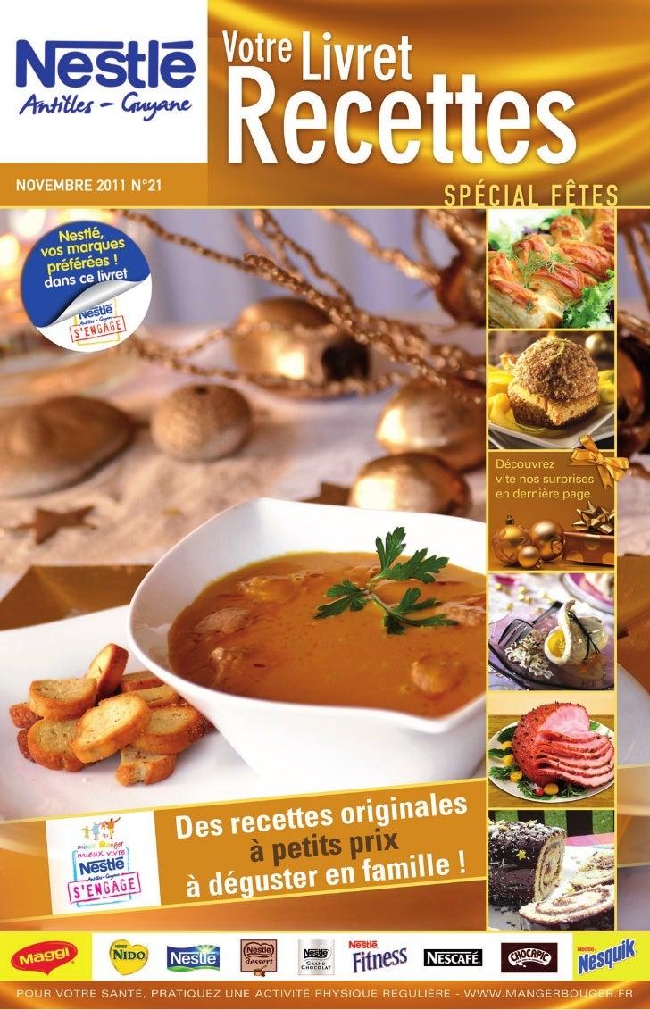 Nestle livret recettes 21 special fetes