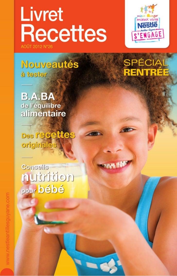 Nestle livret recettes 26 special rentree