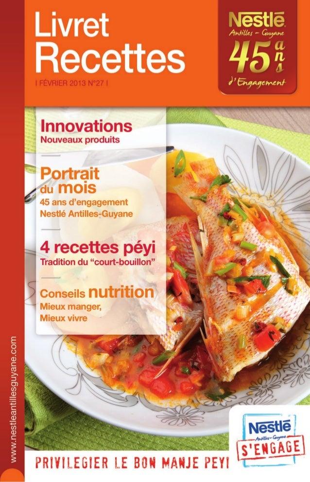 Nestle Livret Recettes N27 fevrier 2013