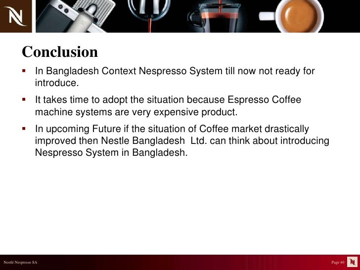 nescafe situational analysis Marketing plan the coffee bean and  such as nescafe and cup of  2 13 flavors of xs energy drinks situational analysis 3 internal strengths.