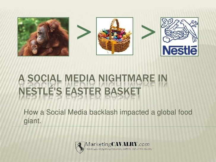 <br /><br />A social media nightmare in Nestlé's Easter basket<br />How a Social Media backlash impacted a global food g...