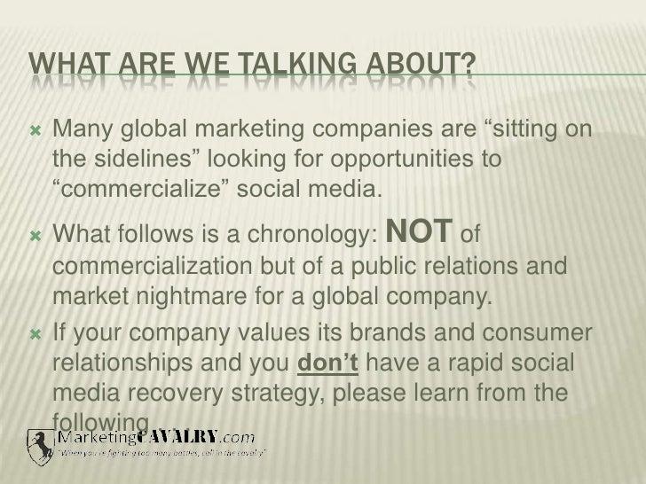 Nestle's Social Media Disaster 2010 Slide 2