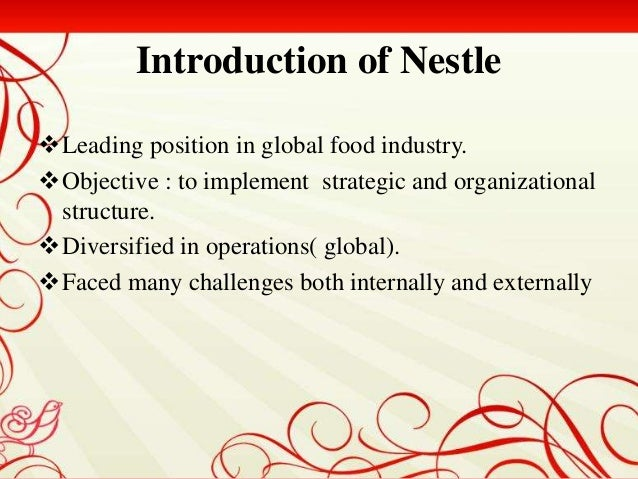 nestle sustaining growth in mature markets Free essay: nestle's sustainable growth in mature market the company establishment nestle was first founded by henri neslte in the 1860s by developing and.