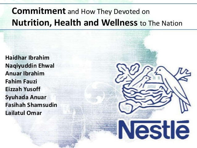 Commitment and How They Devoted on Nutrition, Health and Wellness to The Nation  Haidhar Ibrahim Naqiyuddin Ehwal Anuar Ib...