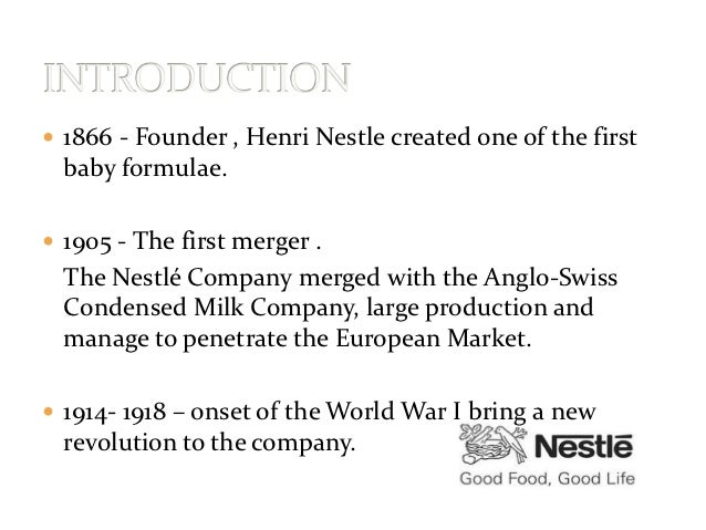 Nestle case study harvard