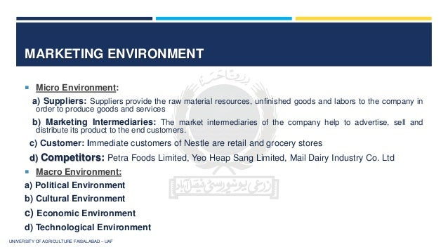 Nestle: Macro Environment and Micro Environment Analysis Essay