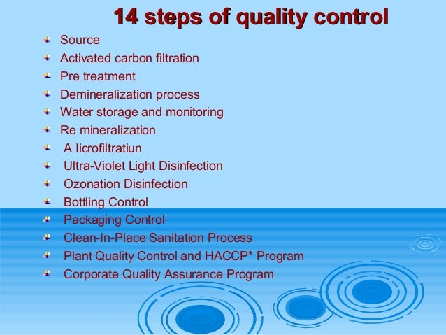 Quality Assurance and Inspection of Nestle QEC
