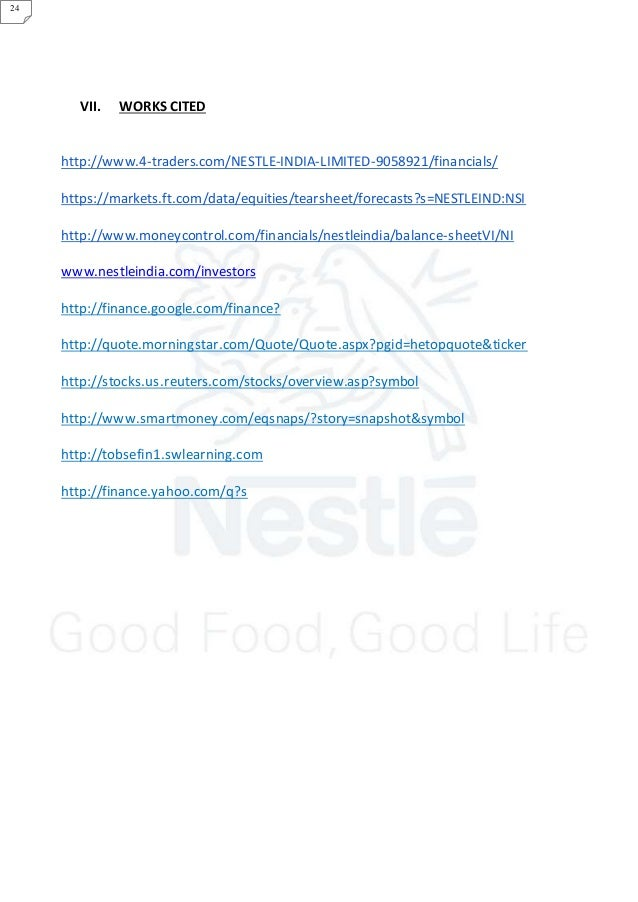 Nestle Report Group 5