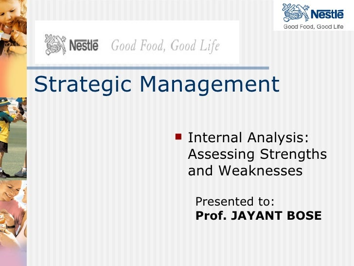 Presented to: Prof. JAYANT BOSE <ul><li>Internal Analysis: Assessing Strengths and Weaknesses </li></ul>Strategic Management