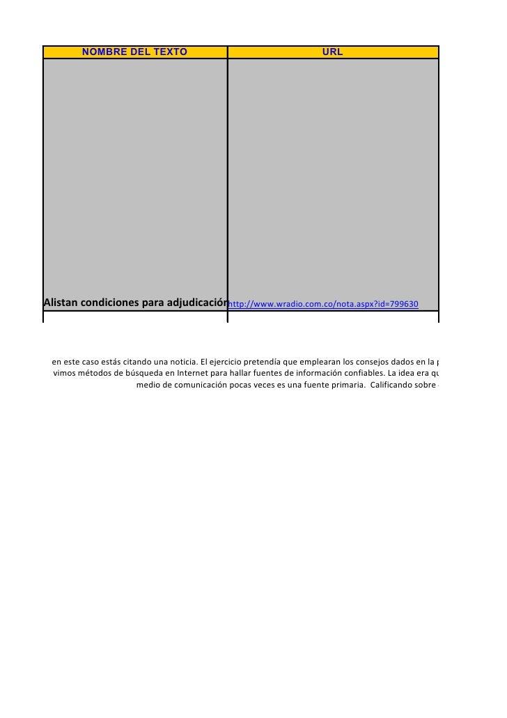 Manejo De Fuentes De Informacion