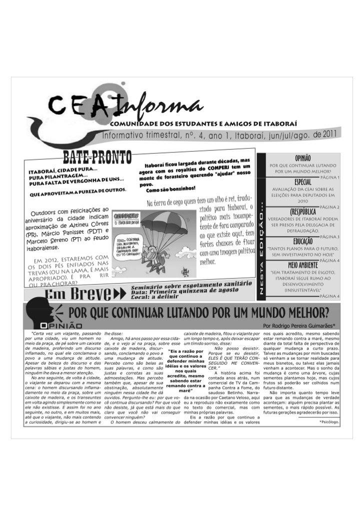CEAInforma 4ª edição.