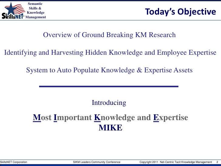 Net-centric tacit knowledge management Slide 2