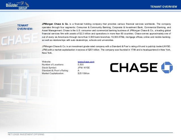 Net Lease Chase Bank For Sale