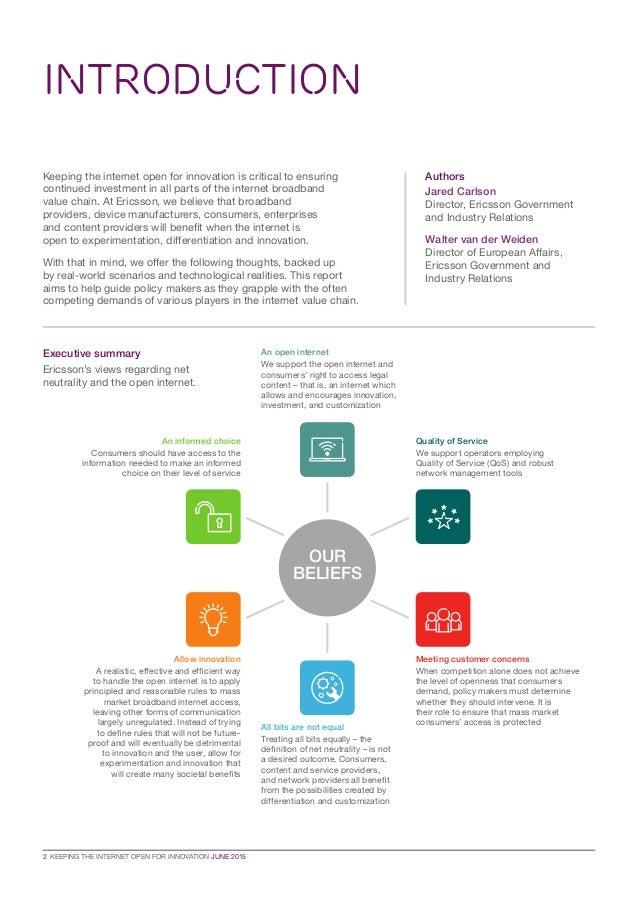 Ericsson's perspective on the net neutrality debate Slide 2