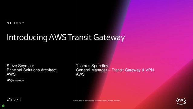[NEW LAUNCH!] Introducing AWS Transit Gateway (NET331) - AWS re:Invent 2018 Slide 2