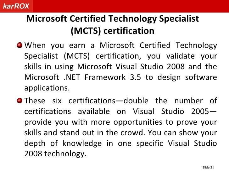 Net 35 Visual Studio 2008 Certification By Karrox