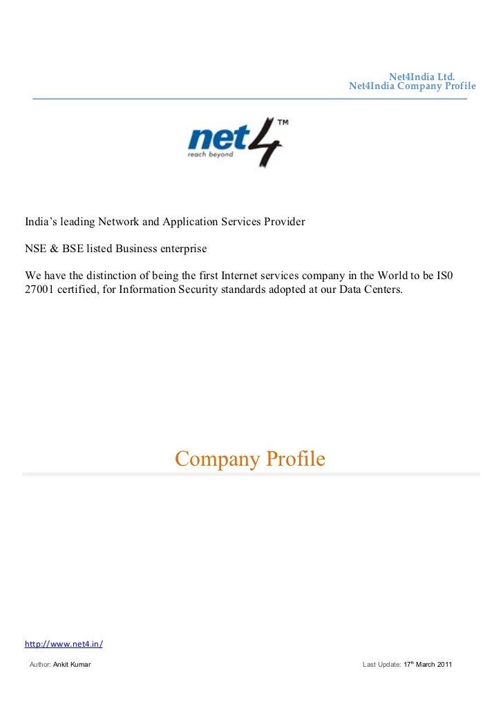 Net4India Ltd.                                                                    Net4India Company ProfileIndia's leading...